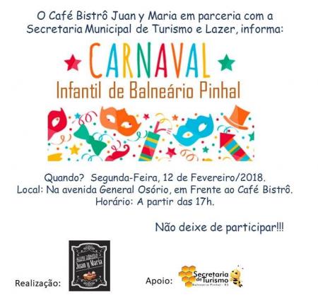 Programação do Carnaval - Infantil