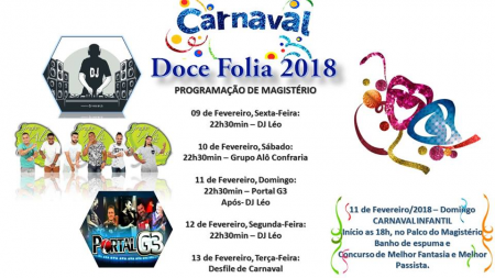 Programação de Carnaval em Magistério