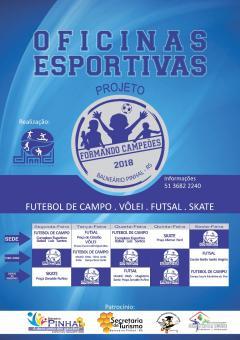 Oficinas esportivas para estudantes
