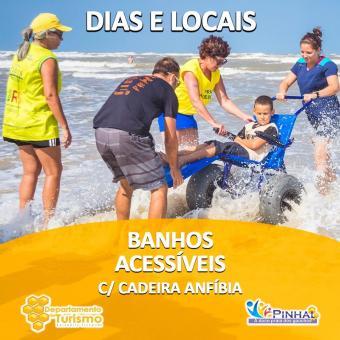 DIAS E LOCAIS - Banho Assistido com cadeira anfíbia: