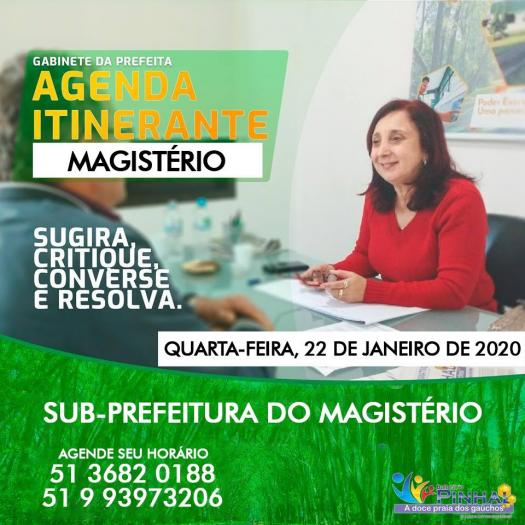 AGENDA ITINERANTE NO MAGISTÉRIO!