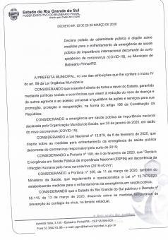 Decreto Nº10 - 26 DE MARÇO DE 2020