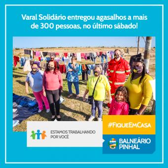 Varal Solidário entregou agasalhos a mais de 300 pessoas, no último sábado!