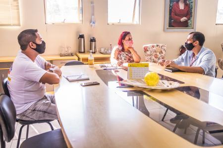Prefeita recebe novo Executivo de Relacionamentos da CEEE