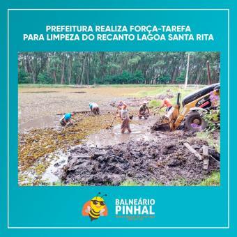 Limpeza do Recanto Santa Rita de Cássia