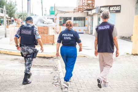 Fiscalização atua, juntamente com Brigada Miliar e Policia Civil