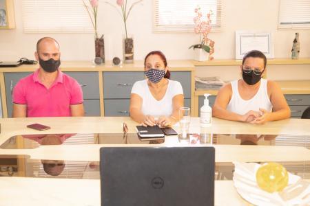 Videoconferência com comerciantes