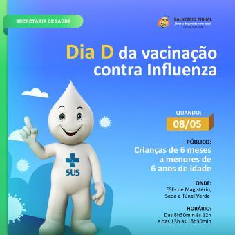 Prefeitura realizará Dia D de vacinação contra Influenza