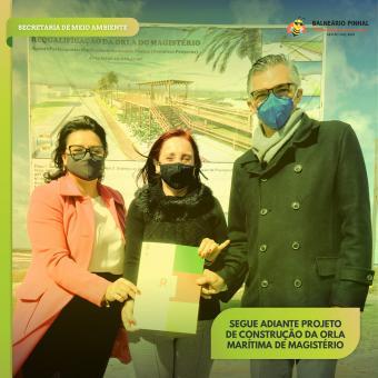 Secretário Estadual de Meio Ambiente e presidente da Fepam entregam autorização de adequação de lice
