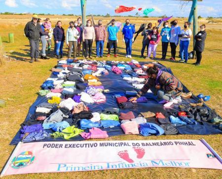Varal solidário distribuiu mais de 1670 peças