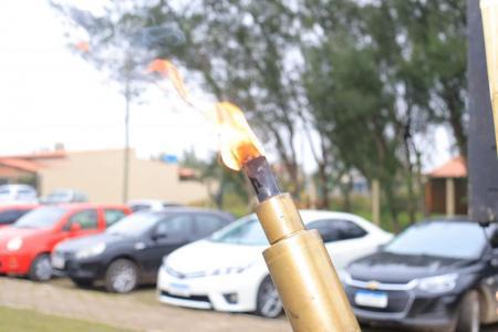 Fogo Simbólico começa sua jornada em Balneário Pinhal